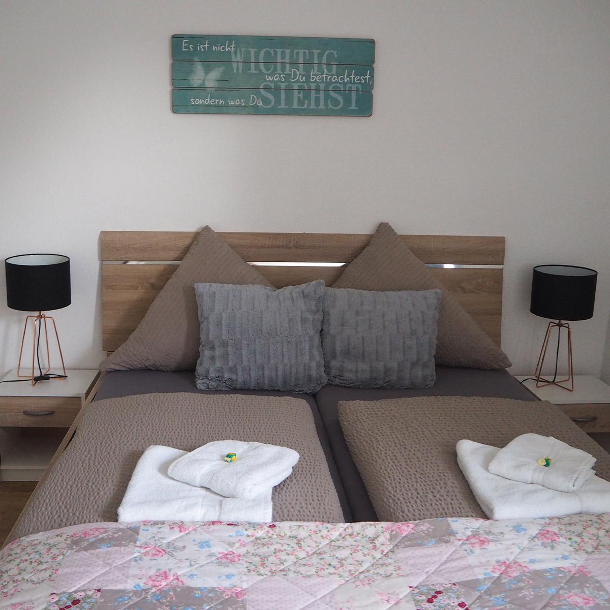 Ferienwohnungen Naturzeit Nachteule Schlafzimmer