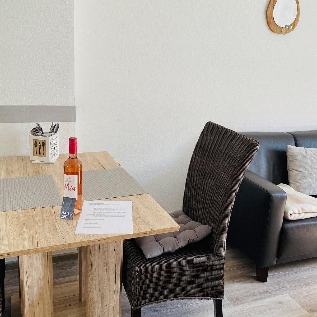 Ferienwohnungen Naturzeit Gänseblümchen Küche